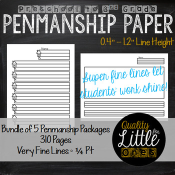 Handwriting/ Penmanship Practice, Lined Story /Poem Writing Paper (Bundle)