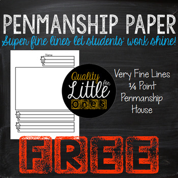 Free Handwriting/ Penmanship Practice, Lined Writing Paper Sample