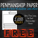Free Handwriting/ Penmanship Practice, Lined Writing Paper Sample