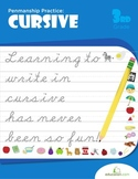 Penmanship Practice: Cursive Workbook