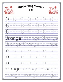 Penmanship - Print Practice A-Z Workbook