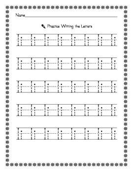 Penmanship: Vowel Tracing