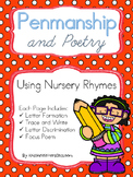 Penmanship and Poetry Using Nursery Rhymes