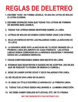 Penmanship in Spanish (Reglas de Deletreo)