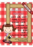 Penmanship sheets, word wall cards {Grade 1 Journeys compatible}