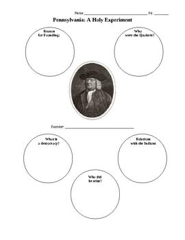 Penn and Colonial Pennsylvania Activities