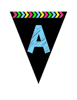 Pennant Alphabet - Blue