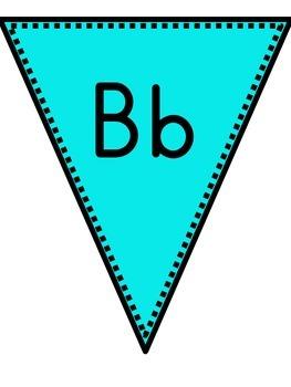 Pennant Alphabet Chart