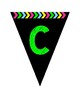 Pennant Alphabet - Green