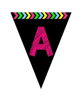 Pennant Alphabet - Pink