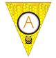 Pennant Banner - All letters + Extras - Bee Themed