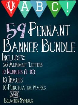 Pennant Banner/Clip Art Bundle
