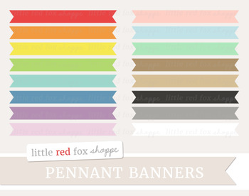 Pennant Banner Clipart; Frame, Label, Flag