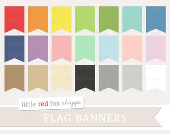 Pennant Banner Clipart; Frame, Tag, Label, Flag