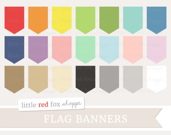 Pennant Banner Clipart; Frame, Tag, Label, Flag, Bunting