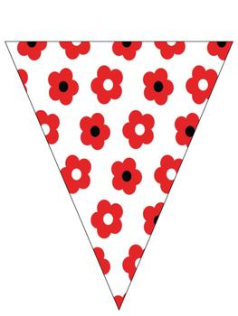 Pennant Banner Ladybug Theme