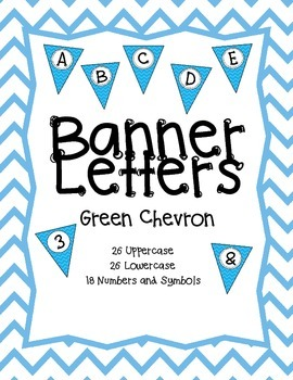Pennant Banner Letters {Blue Chevron}