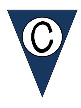 Pennant Banner Navy Blue