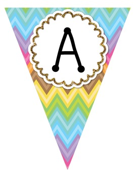 Pennant Banners (Ice Cream Theme)