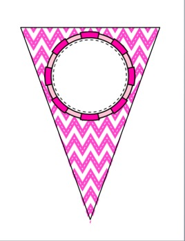 Pennant Banners (Chevron Pattern, 6 BRIGHT colors!)