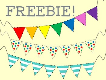 Pennant Banners - Clipart FREEBIE!