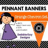 Pennant Banners Orange Chevron Set