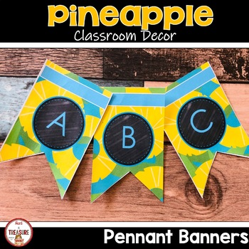 Pineapple Theme Classroom Decor Pennant Banners