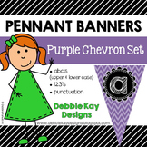 Pennant Banners Purple Chevron Set