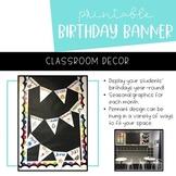 Pennant Birthday Banner | Monthly Display | Printable