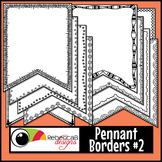 Pennant Doodle Borders Clip Art Set 2