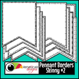 Pennant Doodle Borders Clip Art (Skinny Set 2)