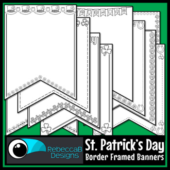 St. Patrick's Day Pennant Doodle Borders