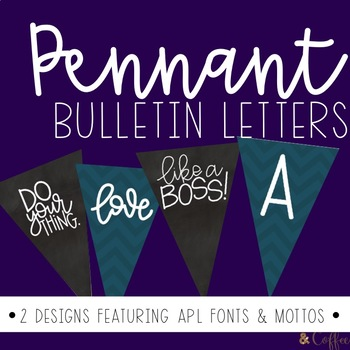 Pennant Bulletin Letters and Numbers