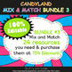 Pennant Bunting Classroom Decoration in Candy Land Theme - 100% Editable