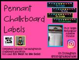 Pennant Chalkboard Labels for Target Rectangle Pockets