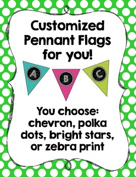 Pennant Flag Banners- Customized for you!