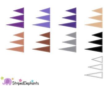 Pennant Flags Clip Art 1