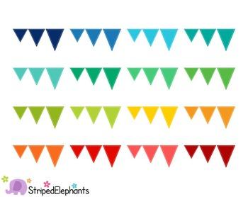 Pennant Flags Clip Art 2