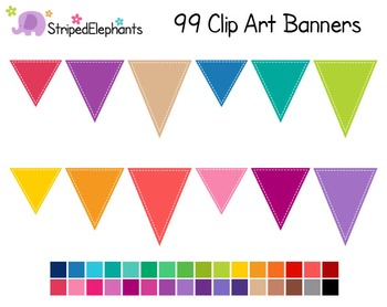 Pennant Flags Clip Art 2