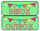 Pennant Inbox and Outbox Turn In Labels