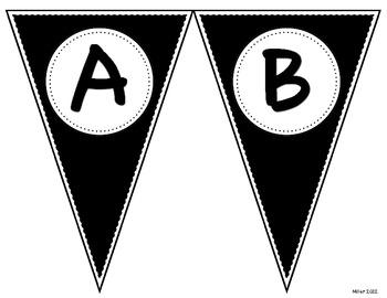Pennant Letters BLACK
