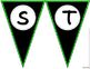 Pennant Letters BLACK and GREEN