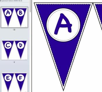 Pennant Letters DARK BLUE