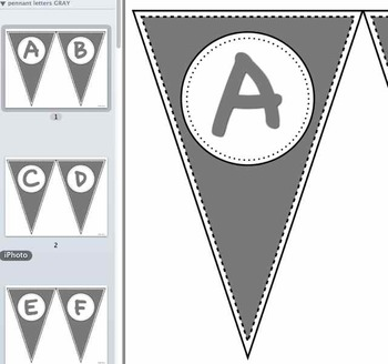 Pennant Letters GRAY