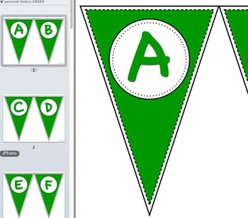 Pennant Letters GREEN
