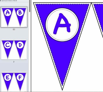 Pennant Letters MULTI-PACK