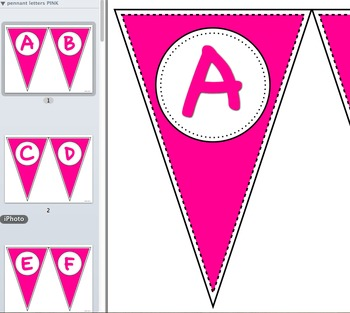 Pennant Letters PINK