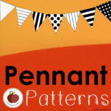 Pennant Patterns - Template - Printable -Classroom Decor