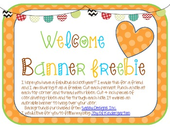 Pennant Welcome Banner