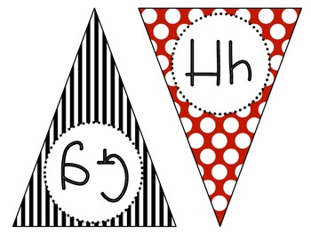 Pennant Word Wall {black, red, and white}